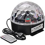WEKSI Disco DJ Lichteffekt Discokugel LED Licht RGB Lasereffekt Projektor Kristall Magic Ball Effect Licht Mit Fernbedienung für Weihnachtsparty Disco Party Klub