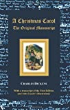 img - for A Christmas Carol - The original manuscript - with original illustrations book / textbook / text book
