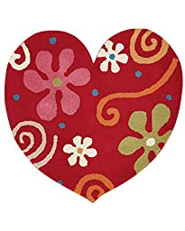 Dynamic Rugs Fantasia Heart 3X3 1708-300 Red