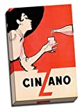 Large Vintage Retro Canvas Print Art Alcohol Advertisments Cinzano 12x18 Inches