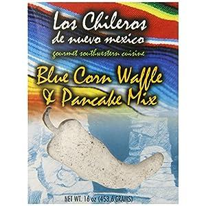 Los Chileros Blue Corn Pancake and Waffle Mix, 16 Ounce