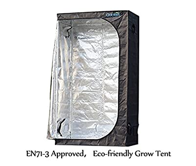 "Christmas Promotion! Quictent 48"" x 24"" x 84"" Upgraded EN71-3 Approved Grow Tent Reflective Mylar Hydroponic Dark Room Box"