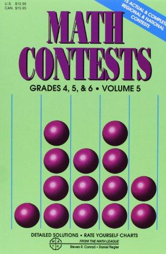 Math Contests, Grades 4, 5 & 6, Vol. 5 PDF