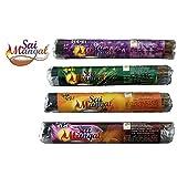 Sai Mangal Agarbatti/Incense Sticks - Kewda, Lavender, Rose & Chandan -1 Pack Each