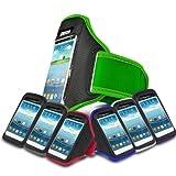 Green Sports Jogging Armband Case Cover Comfortable Holder Soft Gym Adjustable Running For Motorola MOTO G 8GB XT1032 (XL) Mobile Cellular Phone