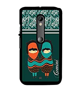 Fuson 2D Printed Sunsign Gemini Designer back case cover for Motorola Moto X Play - D4405
