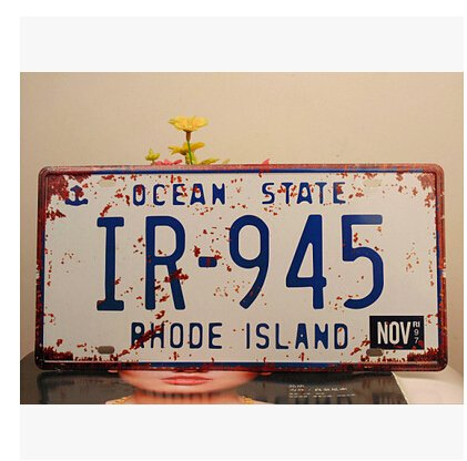 Ocean State Ir 945 Rhode Island Vintage Auto License Plate Embossed Tag Size 6 X 12 15 5 30cm