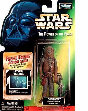 Star Wars Power of the Force Freeze Frame Chewbacca as Boushh's Bounty Action Figure
