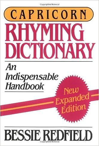 Capricorn Rhyming Dictionary written by Bessie G. Redfield