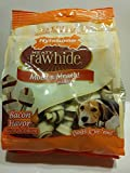 Nylabone Rawhide Meaty Dog Bone Treats - Bacon Flavored