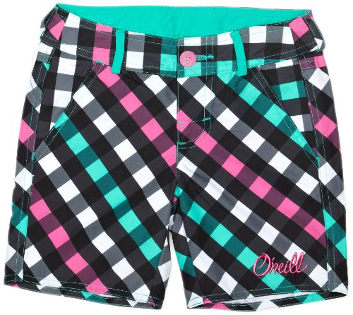 O'Neill Striped Check High Rise Girl's Boardshorts
