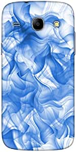 Snoogg White And Blue Smoke 2430 Designer Protective Back Case Cover For Sams...