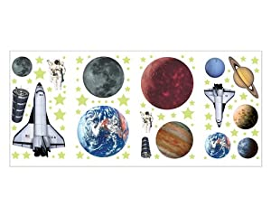 #!Cheap Outer Space Astronaut Planet Wall Appliques Wallpaper Stickers