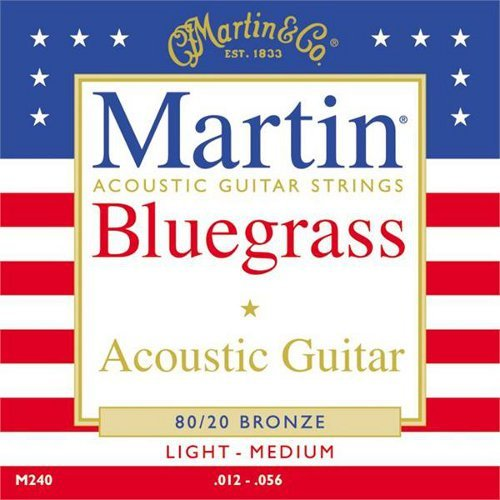 Martin M240 8020 Bronze Acoustic Guitar Strings - Custom (Cf Martin Strings compare prices)