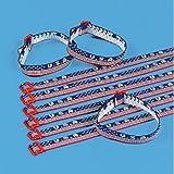 USA Woven Friendship Bracelets (1 dozen) - Bulk