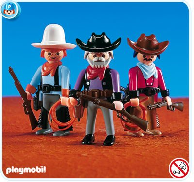 5d4db6fa4ab Cheap Playmobil Cowboys (3) and Accessories Discount Review Shop