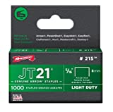 Arrow 215 Genuine JT21/T27 5/16-Inch Staples, 1,000-Pack