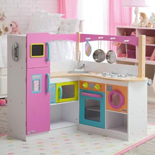 Kidkraft Kidkraft Big & Bright Grand Gourmet Corner Kitchen, Wood