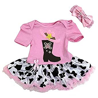 Baby Pink Dresses with Cowgirl Boots