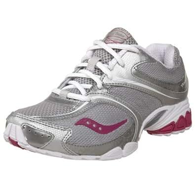 Saucony Women's Grid Virtue Workout Shoe,Silver/Grey/Purple,5 M US