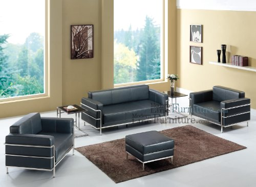 Buy Low Price Contemporary Living Room Set Of Black Sofa 2 Chairs 2 End Tables And A