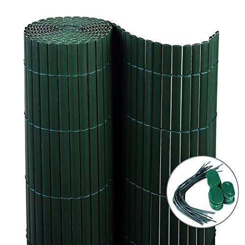 eugad pvc sichtschutzmatte balkon sichtschutzzaun balkonsichtschutz windschutz zaun gr n. Black Bedroom Furniture Sets. Home Design Ideas