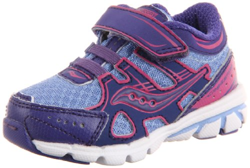 Saucony Crossfire A/C Running Shoe (Toddler/Little Kid),Blue/Magenta,5.5 W Us Toddler
