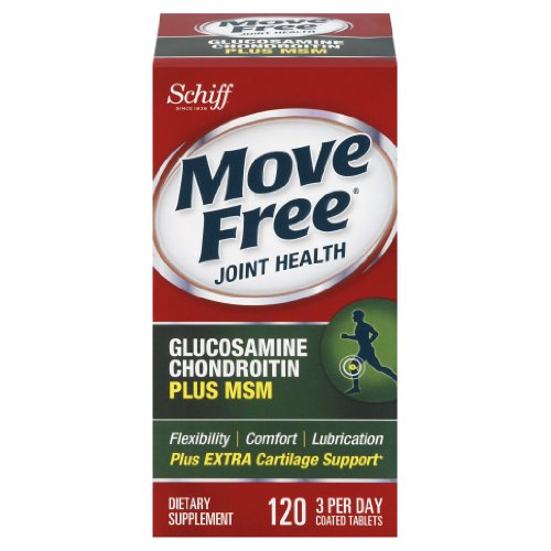 Move Free glucosamine chondroïtine MSM et le Supplément mixte de l'acide hyaluronique, 120 comte