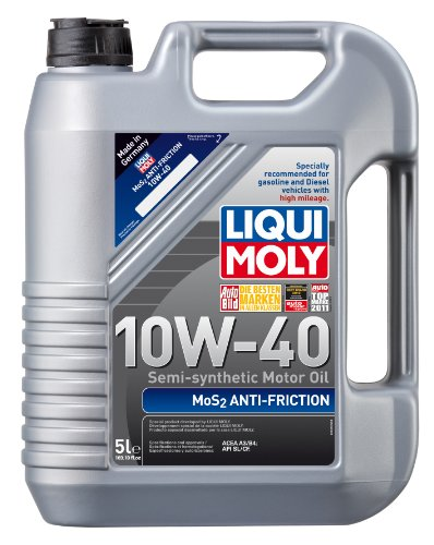 Liqui Moly 2043 MoS2 Anti-Friction 10W-40 Motor Oil - 5 Liter Bottle (Motor Oil Liqui Moly compare prices)