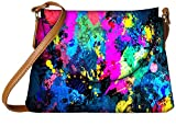 Snoogg splash paint job Womens Carry Around Sling Bags