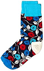 Happy Socks Men's Calf Socks (8904214908133_DF01-068_Medium_Blue)