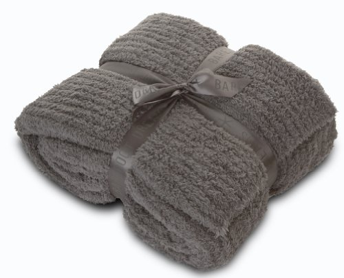 Barefoot Dreams Cozychic Ribbed Throw Blanket, Color: Charcoal front-1008181