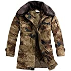 Hee Grand Men Winter Camouflage Faux Fux Coaller Parka Jacket With Hood Chinese M