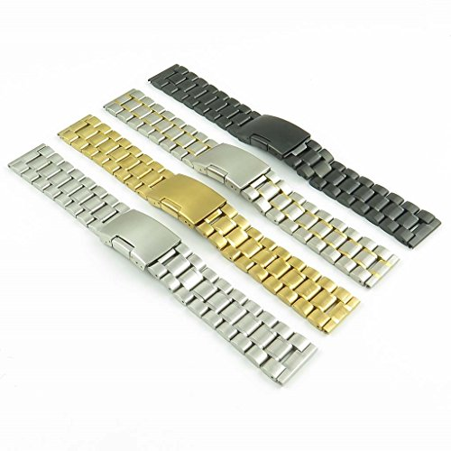 цена на StrapsCo Two Tone Stainless Steel Watch Band in size 22mm
