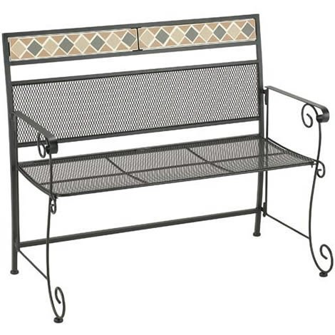 Steel Garden Bench Folding Marrakesh Folding Patio 2 Seater Bench