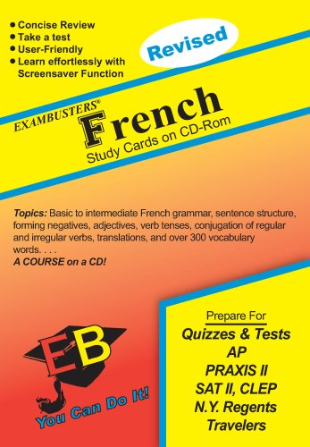 French Exambusters CD-ROM Study Cards: Exam Prep Software on CD-ROM!