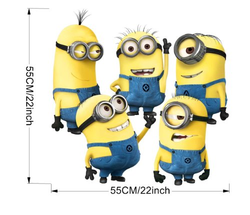 Fashion Plaza Stylish Despicable Me 2 Little Yellow Men Wall Stickers Home/Room Decors Mural Art Decals Adhesive Decorative