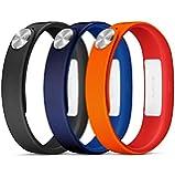 Sony Mobile Small A1 SmartBand Wrist Straps - Orange/Blue/Black