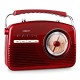 oneConcept-NR-12-tragbares-Retro-Kofferradio-Vintage-Kchenradio-analog-UKW-Radio-analog-50er-Jahre-Retro-Look-Batterie-und-Netz-Betrieb-rot