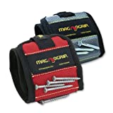 Magnogrip Tool Wristband - Platinum and Red Combo