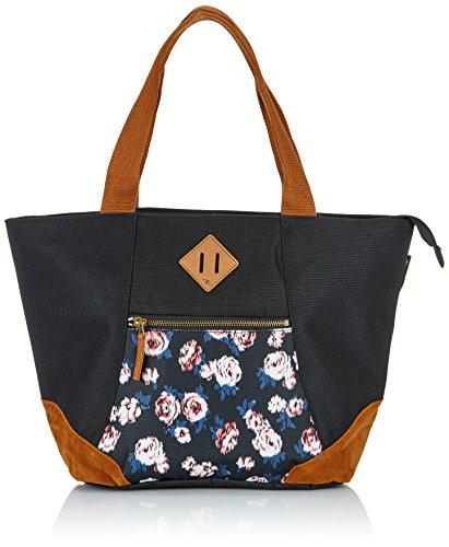 Rip Curl Borsa Roses Shopping Bag, Black, 35x 20x 20cm, lsbcz4