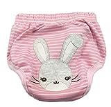 CuteOn Unisexo Bebé Niña Chico Pee Pantalones de entrenamiento Panal del pañal reutilizable - 08 Conejo 24 Meses