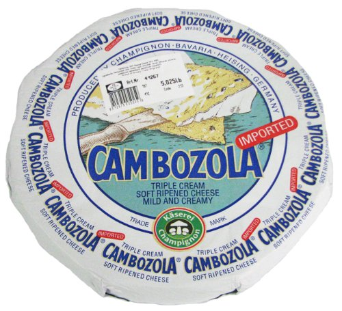 Cambozola Triple Cream Blue Veined Cheese 5 Pound Wheel (2 pack) (Triple Cream Brie compare prices)