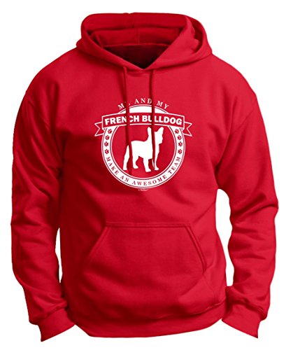 Dog Lover Birthday Gift Me and My French Bulldog Make an Awesome Team Premium Hoodie Sweatshirt Medium DpRed (Cooler Red Bull compare prices)