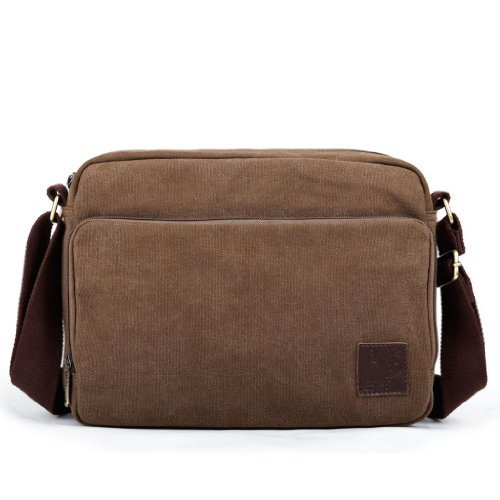 Eshow Men's Casual Multifunction Canvas Cross Body Satchel Bag
