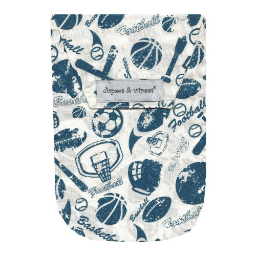 Diapees & Wipees Vintage Sports Baby Diaper and Wipes Bag