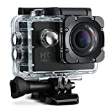 VicTsing Waterproof Sports Action Camera 12MP 1080P HD Cam Camcorder Outdoor for Bicycle Motorcycle Diving Swimming Skiing Sliver with Free Accessories Kit