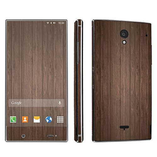 Sharp Aquos Crystal Phone Skin - [SkinGuardz] Full Body Scratch Proof Vinyl Decal Sticker with [WallPaper] - [Brown Wood] for Sharp Aquos Crystal (Sharp Aquos Crystal Wood compare prices)