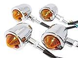 (シーエムワイ セレクト) cmy select 汎用 ブレット ウインカー バイク クローム メッキ オレンジレンズ 2個セット ビレットウインカー バレット ウィンカー アメリカンバイク バレットウィンカー 汎用 ブレットウインカー