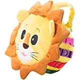 """BUCKLE TOY """"Benny"""" Lion Bag - Toddler Early Learning Basic Life Skills Children's Plush Travel Activity"""